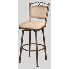 "30"" Memory Swivel Bar Stool with Cushioned Back"