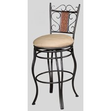 "30"" Memory Swivel Bar Stool with Round Seat"
