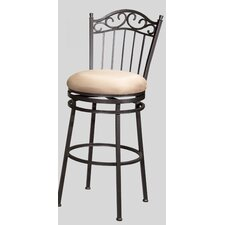 "30"" Memory Swivel Bar Stool with Windsor Back"