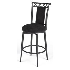 "30"" Swivel Memory Return Bar Stool in Black"