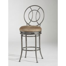 "30"" Swivel Memory Return Bar Stool with Round Back"