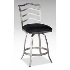 "30"" Swivel Memory Return Bar Stool with Ladder Back"