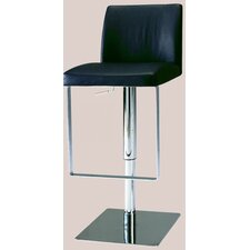 Adjustable Swivel Stool with Upholstered Seat in White