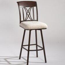 "47.8"" Memory Return Swivel Barstool in Beige"