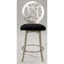 "Microfiber 30"" Simple Swivel Bar Stool"