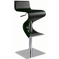 Adjustable Contemporary Swivel Stool in Black