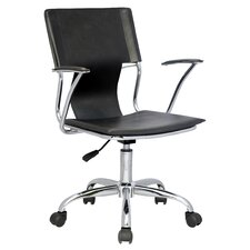 <strong>Chintaly Imports</strong> Mid-Back Office Chair with Swivel