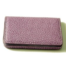 On the Go Pebble Grain Magnetic Business Card Case in Purple