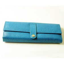On the Go Pebble Grain Jewel Roll in Blue