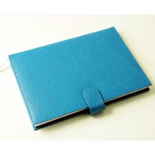 On the Go Pebble Grain Ruled Journal in Blue