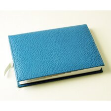 On the Go Pebble Grain Medium Address Book in Blue