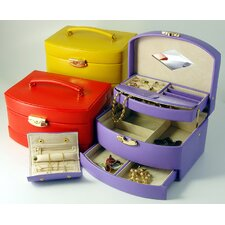 Bold and Spring Ladies Large Auto Open Jewelry Box