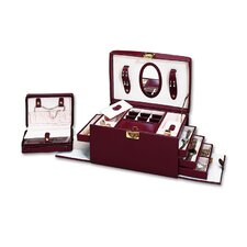 Ladies Classic Jewelry Box in Burgundy