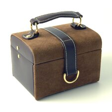 Faux Suede and Leather Jewelry Box