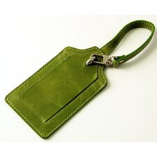 Distressed Leather Luggage Tag