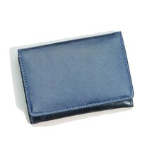 <strong>Budd Leather</strong> Distressed Leather Credit Card Wallet