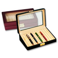 Men's 12 Pen Box with Glass Top