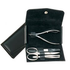 Leather Women's Solingen 4 Piece Manicure Set