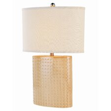 """Eccetera 27.5"""" H Table Lamp with Oval Shade"""