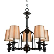 <strong>TransGlobe Lighting</strong> Modern Meets Traditional 5 Light Chandelier