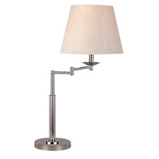 """Swing Arm 26"""" Table Lamp with Empire Shade"""