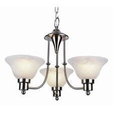 Contemporary 3 Light Mini Chandelier