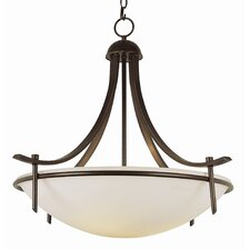 Contemporary 3 Light Inverted Pendant