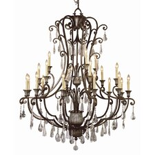 <strong>TransGlobe Lighting</strong> Crystal Flair 21 Light Chandelier
