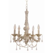 Crystal Flair 5 Light Mini Chandelier with Crystal Accents