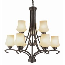 New Century 9 Light Chandelier