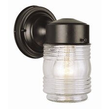 Outdoor 1 Light Jelly Jar Wall Lantern