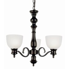 <strong>TransGlobe Lighting</strong> 3 Light Mini Chandelier