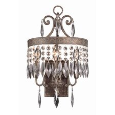Crystal 3 Light Wall Sconce