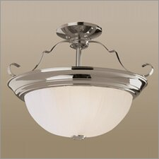 Indoor Energy Star Fluorescent Semi Flush Moun