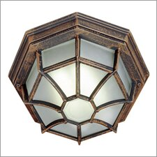 Outdoor 1 Light Fluorescent Flush Mount
