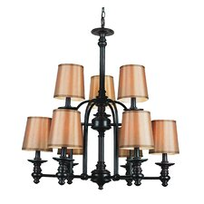 Modern Meets Traditional 9 Light Chandelier