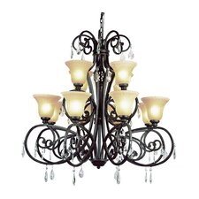 Crystal Flair 12 Light Chandelier