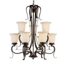 <strong>TransGlobe Lighting</strong> Georgian 9 Light Chandelier