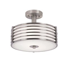2 Light Large Semi Flush Mount
