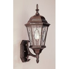 1 Light Outdoor Up-Light Wall Lantern