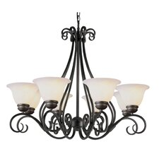 <strong>TransGlobe Lighting</strong> 8 Light Chandelier