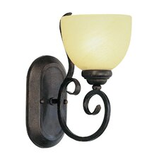 <strong>TransGlobe Lighting</strong> 1 Light Wall Sconce with Swirl Shade