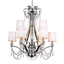 9 Light Chandelier with Crystal Shade