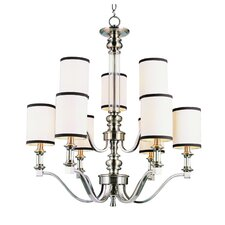 <strong>TransGlobe Lighting</strong> 9 Light Chandelier