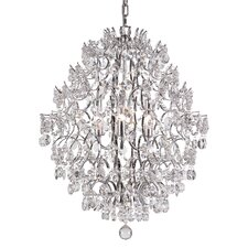 6 Light Chandelier with Crystal Shade