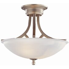 <strong>TransGlobe Lighting</strong> 2 Light Semi Flush Mount