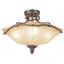 Rustic Tea Branch 4 Light Semi Flush Mount