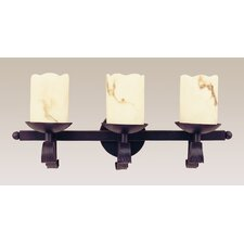 Olde World 3 Light Heavy Iron Wall Sconce