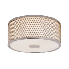 Diamond Grill 2 Light Flush Mount