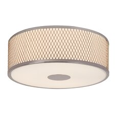 Diamond Grill 3 Light Flush Mount